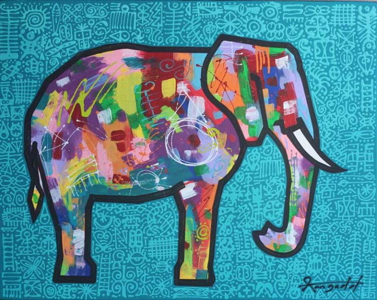 African Wildlife Art elephant