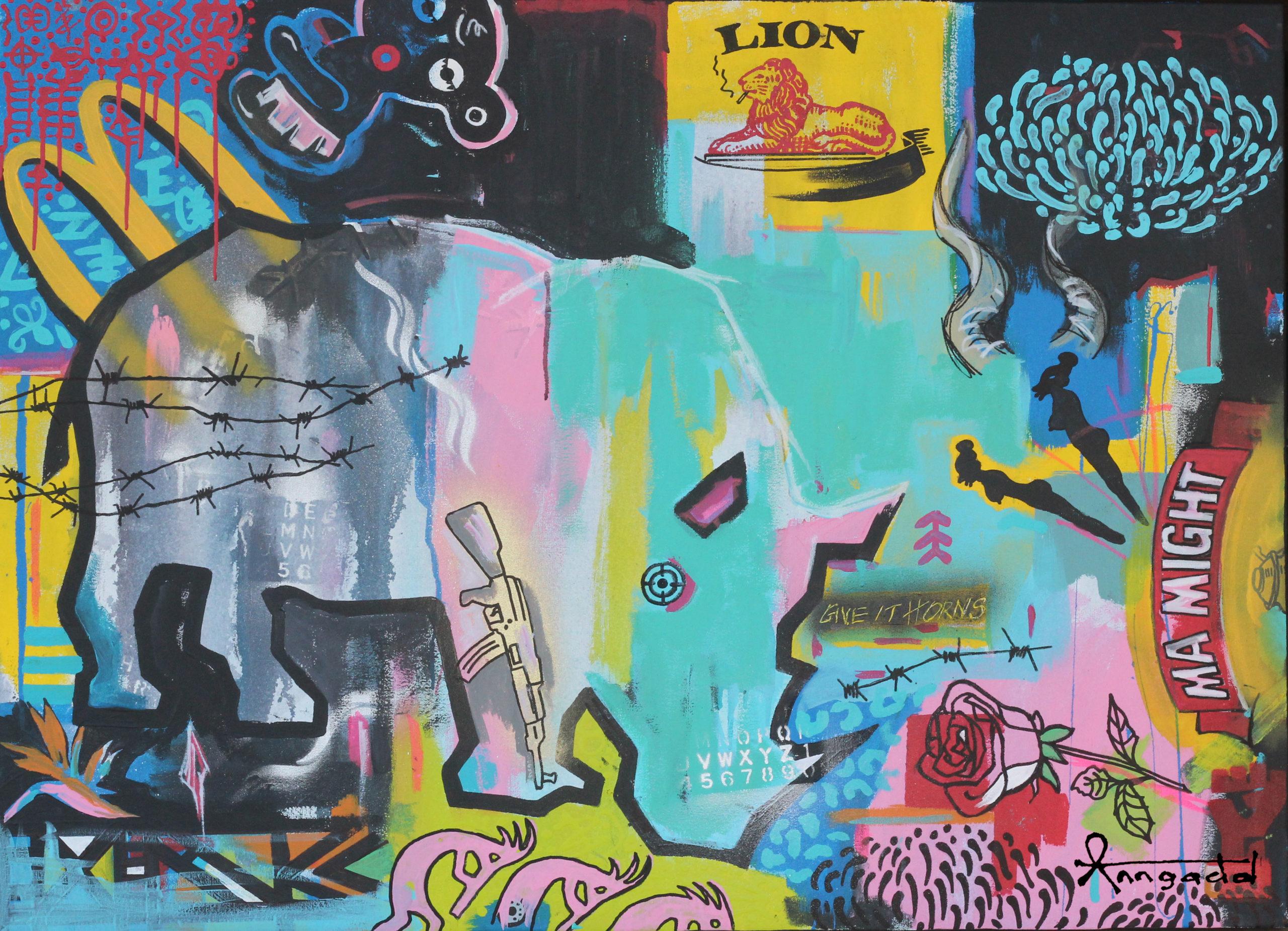 Ann Gadd African Wildlife Art \Bang Bang' series