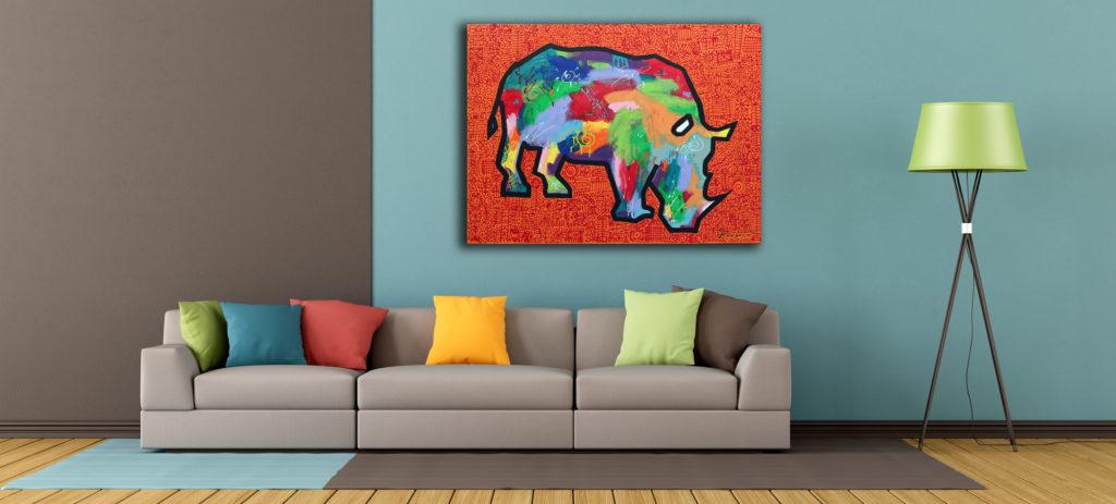 Rhino by Ann Gadd